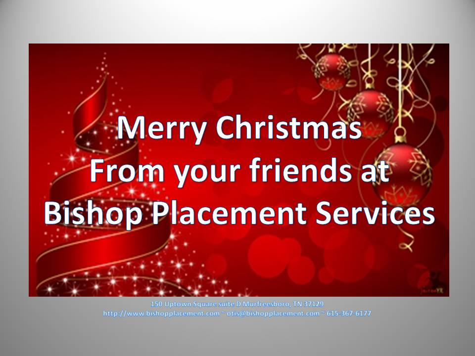 Merry Christmas - Bishop Placement Services